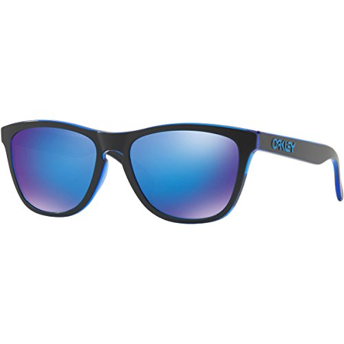 Oakley Men's Frogskins (a) Non-Polarized Iridium Rectangular Sunglasses, Eclipse Blue, 54 - Sunglasses Oakley Blue