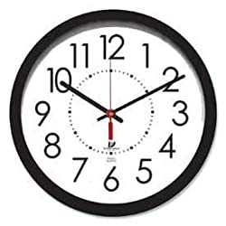 Chicago Lighthouse 14.5 Round Electric Wall Clock, 5' Cord, Plastic Case, Black, Lot of 1