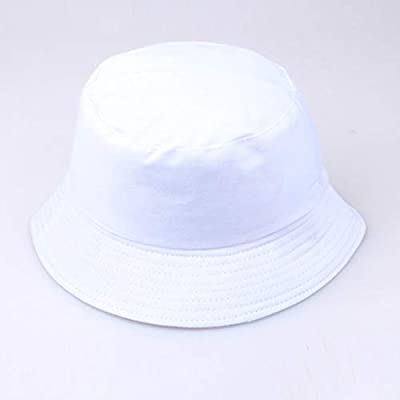 Voberry Unisex Flat Fisherman Hat,Vintage Smiley Face Bucket Hip Hop Sunscreen Fishing Outdoors Cap White: Clothing