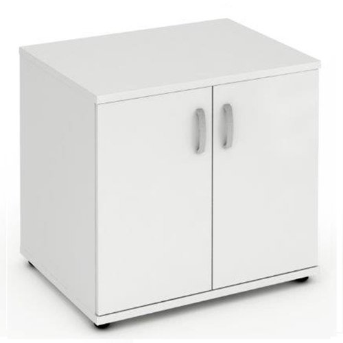 White Desk High Cupboard with 1 Adjustable Shelf from Relax Office Furniture