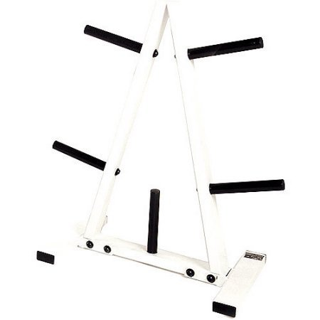 300lb Weight Capacity 1-Inch Standar Plate Tree Rack in Black/White by