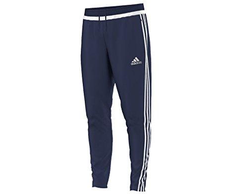 adidas Mens Tiro 15 Training Pants, Dark Blue/White/Dark Blue, X-Large