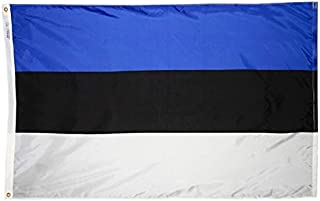 product image for Annin Flagmakers Model 221349 Estonia Flag Nylon SolarGuard NYL-Glo, 5x8 ft, 100% Made in USA to Official United Nations Design Specifications