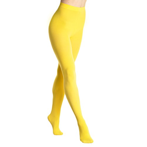 Angelina Brushed Interior Thermal Tights, #009 Yellow,one size fits most ()