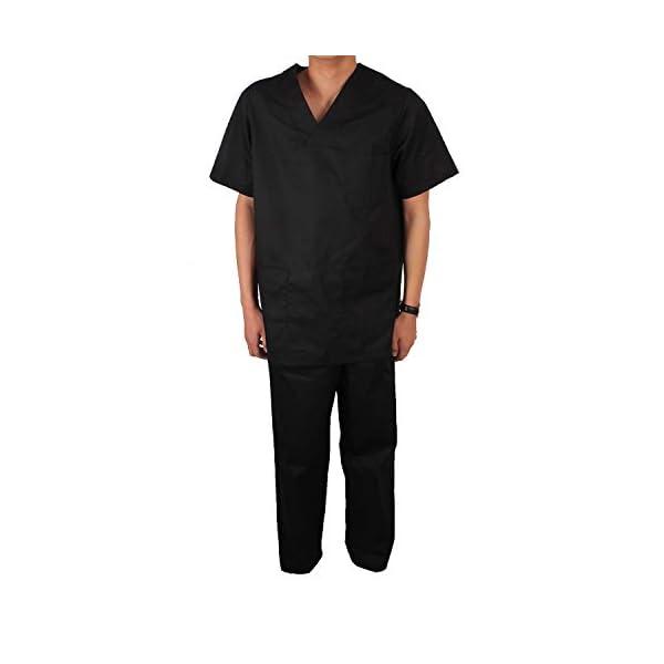 Misemiya Camiseta Casaca Unfiromes Sanitarios Unisex Camisa de sanitario, Hombre 7