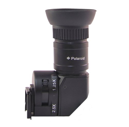 Wide Angle Viewfinder - Polaroid 1X-2.5X Right Angle Viewfinder for Canon EOS, Nikon, Olympus, Panasonic, Sony, & Pentax Digital SLR Cameras