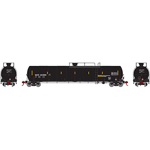 Athearn HO 33 900-Gallon LPG Tank Late GATX #203080, ATHG25479 from Athearn
