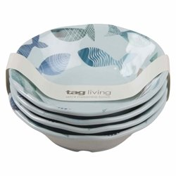 TAG - Fish Melamine Bowl, Durable, BPA-Free and Great for