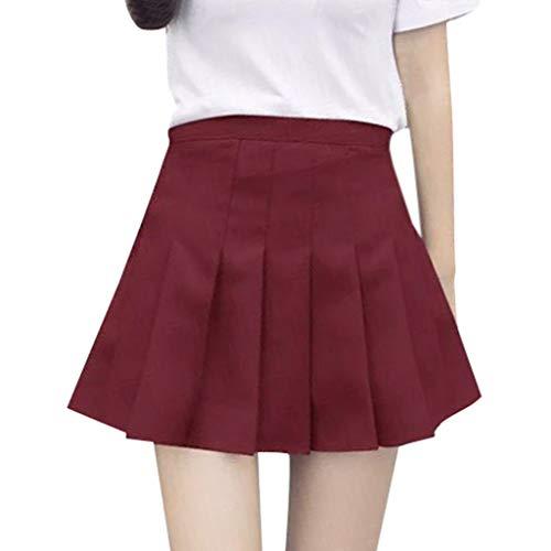 Duseedik Women's Short Dress Summer Fashion High Waist Pleated Mini Skirt Slim Waist Casual Tennis Short Pants ()