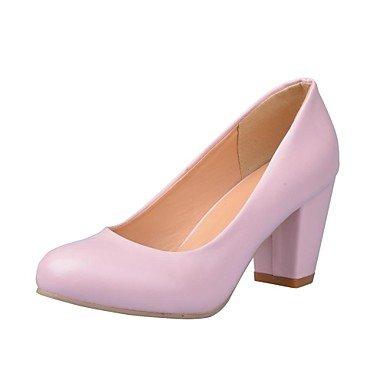 EU33 CN32 Pink Heel Leatherette 5 amp;Amp; Office Zormey Beige US3 White Chunky Black UK1 Spring Fall Women'S Career Dress 5 HwqPAFaPx