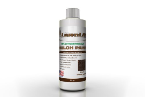 Lawnlift Ultra Concentrated (Mocha) Mulch Paint 8oz. = 2.5 Quarts of Product. by Lawnlift Grass and Mulch Paints (Image #1)
