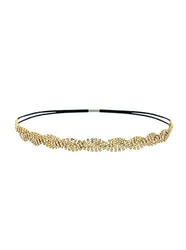 Petite Intertwined Gold Rhinestone Headband ()