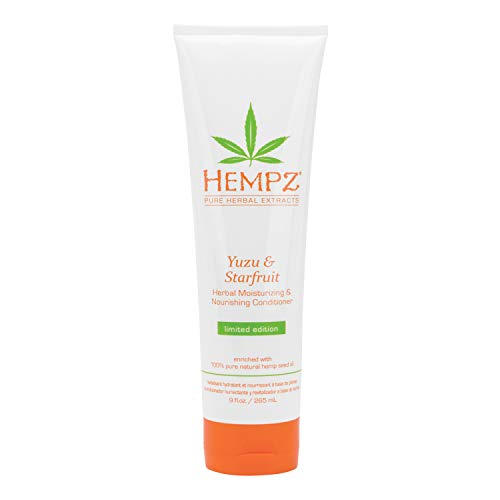 Hempz Yuzu and Starfruit Conditioner with Shea Butter and Essential Extracts, for Women and Men, 9 oz. – Natural…