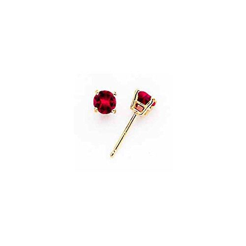 Best Designer Jewelry 14k Ruby Post Earrings