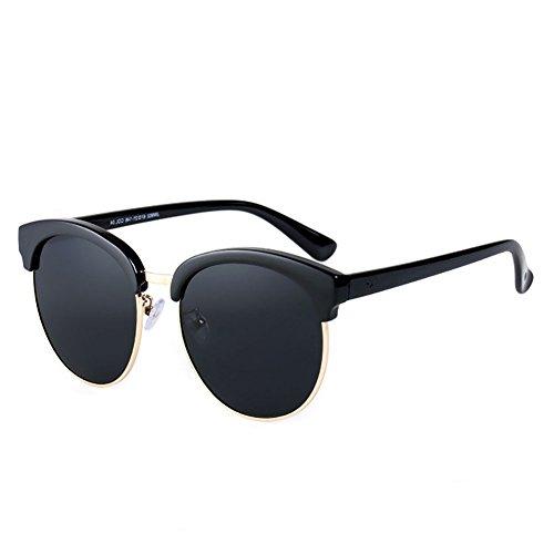 Grande Sol Color Femeninas Elegante 2 Gafas Redonda Marco Retro Gafas DT de 1 Redondo Sol Femeninas de Gafas Cara Sol de BFt7qU7nwx
