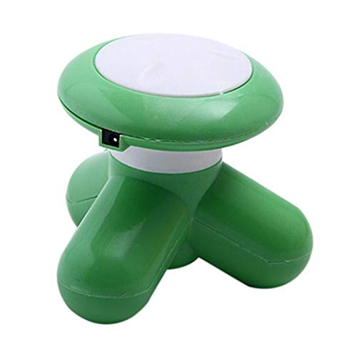 (Easyinsmile Vibrating Mini Body Massager, Electric Vibrating Relax Massagers Scalp Head Neck Shoulders Back Hand Held Portable Personal Massager - USB or Battery Powered (Green) )