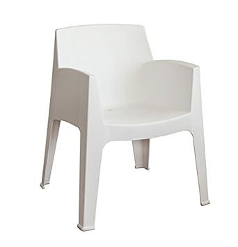 LEBER Sillón Soho de Resina Moderno Color Blanco. Apilable ...