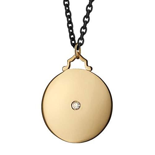 Duke Monica Rich Kosann Round Charm in Gold with Stone by -