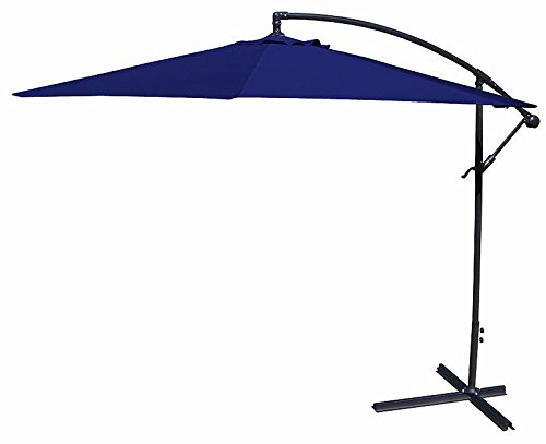10ft out door deck Patio Umbrella Off set Tilt Cantilever Hanging Canopy (Tilt White Earrings)