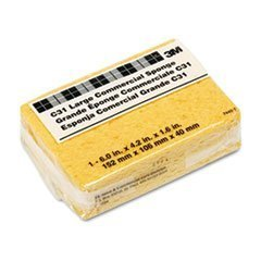 Commercial Cellulose Sponge - Scotch-Brite C31 Commercial Cellulose Sponge, Yellow, 4 1/4 x 6