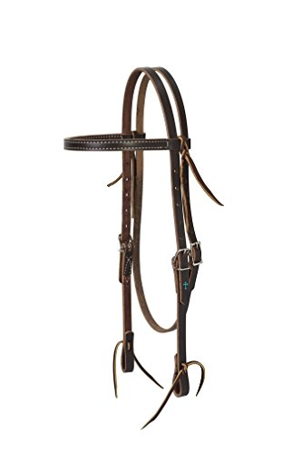 Turquoise Cross Skirting Leather Headstall