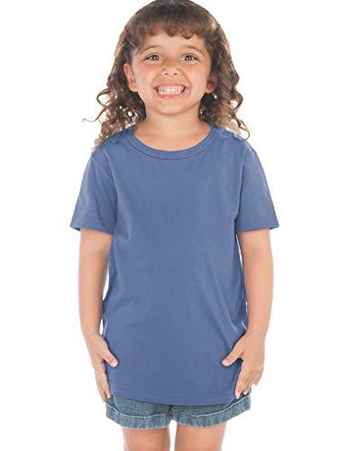 Kavio! Toddlers Crew Neck Short Sleeve Tee (Same TJP0494) Steel Blue - Crewneck Steel