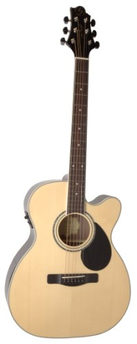 Samick Music G Series 100 GOM100RSCE Orchestra Body Acoustic-Electric Guitar, Natural -  Samick Music Corp.