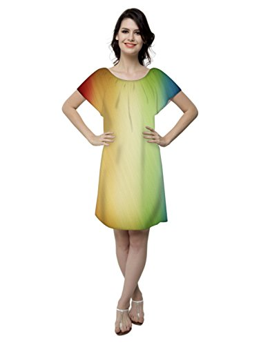 Snoogg - Chemise de nuit - Col Rond - Manches Courtes - Femme Multicolore Bigarré