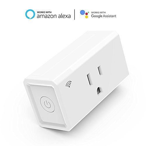 UPBASICN Mini Smart Plug,No Hub Required,Timing Function,Wi-fi Remote Control From Anywhere,Works with Alexa and Google Assistant (White)