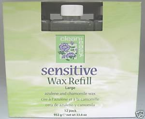 Clean+Easy Sensitive Wax Refill 12pk Large