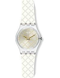 Materassino Silver Dial White Silicone Strap Ladies Watch LK365