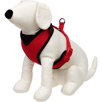 Petco Adjustable Mesh Harness For Dogs In Red   Black X Small For Chests 15 5  19  For Necks 6  8