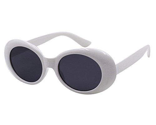 Style White Lunettes soleil Oval Retro MEIHAOWEI de fSqvvP