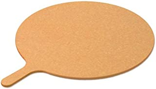 product image for LloydPans 18 inch Wood Fiber Round Pizza Serving/Cutting Board with Handle.
