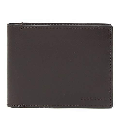 Cole Haan Mens Wallets - Cole Haan Men's Smooth Leather Bifold Wallet (Brown)
