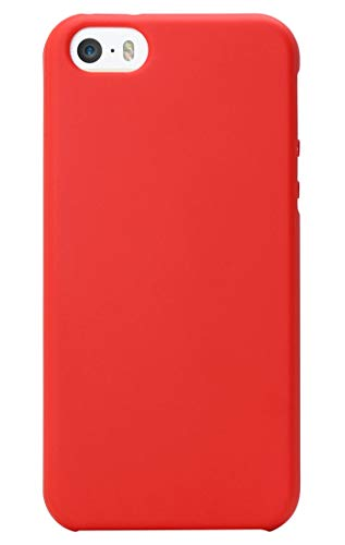 MUNDULEA Matte Case Compatible iPhone 5s/SE/5,Shockproof TPU Ptotective Cover Compatible iPhone SE 5S (Red) (Iphone 5s Phone Covers For Boys)