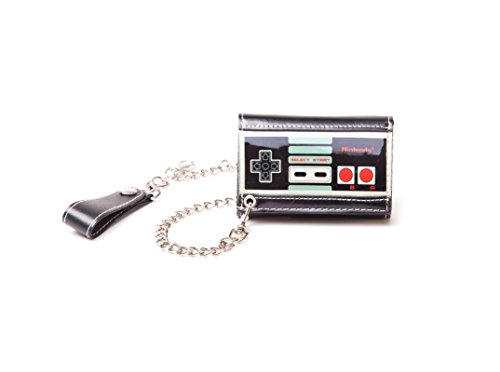 Nintendo retro Controller Official New Trifold Chain Wallet