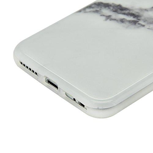 Funda para iPhone 7 Sunroyal Premium Mármol Suave TPU Carcasa Parachoques Bumper Tapa Flexible Silicona Portátil Protectora Absorción de Golpes Case Ultra Delgado Caja del Teléfono para iPhone 7 4.7  A-26