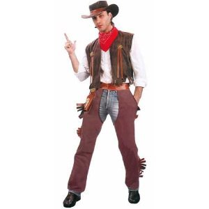 [Plus Size Men's Cowboy Costume] (Wild Man Costumes)