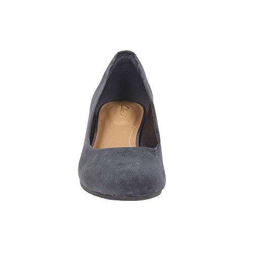 CLARKS Clarks Womens Wedge Vendra Bloom Navy Suede