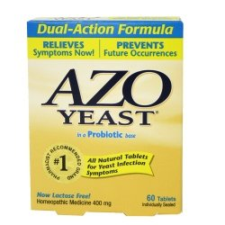 Azo Yeast in a Probiotic base - 60 Tablets