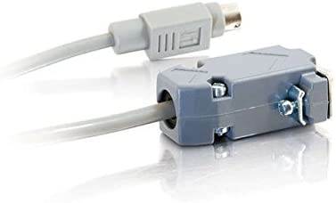 6 Feet, 1.82 Meters C2G 25041 DB9 Female to 8-Pin Mini-DIN Serial RS232 Male Adapter Cable Grey