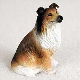 Dog Collie Figurine (Collie Miniature Dog Figurine - Sable)