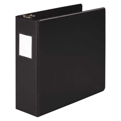 Wilson Jones Heavy Duty Round Ring Binder with Label Holder,