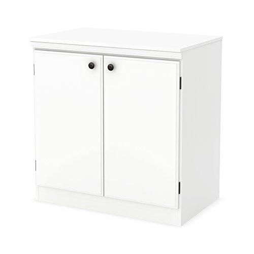 Shore 2 South Cabinet Door - South Shore Morgan 2-Door Storage Cabinet, Pure White