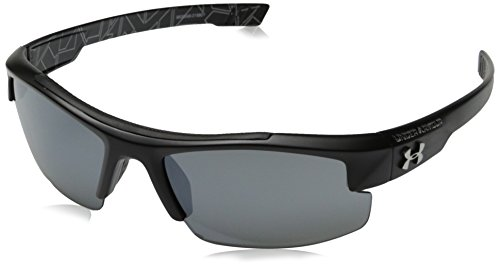 Under Armour Nitro L Youth Large 8600048-018801 Sunglasses, Satin Black, 59 mm