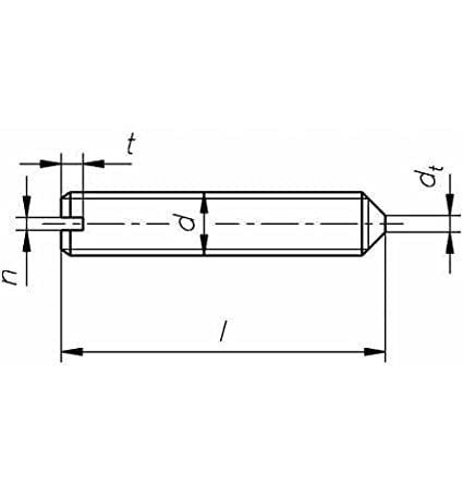 Reidl Gewindestifte mit Schlitz//Spitze 3 x 4 mm DIN 553 14 H blank 10 St/ück