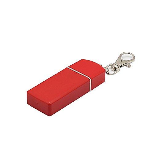 H & K Pequeño delicado Cenicero para exteriores, llavero de bolsillo portátil para fumador con tapa, Rojo