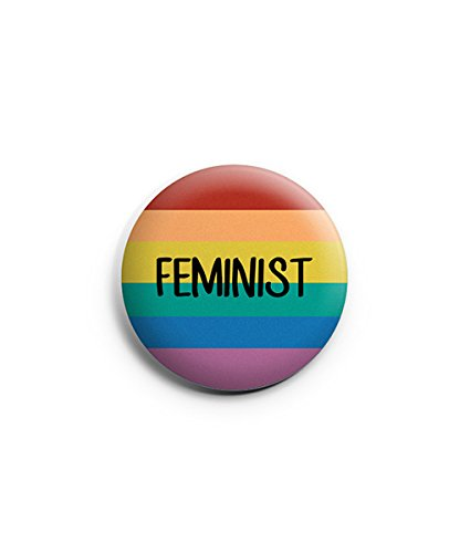 buy o womania multicolour feminist round badge with metal front