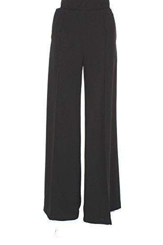 Pantalone Donna Elisabetta Franchi 46 Nero Pa07377e2 Autunno Inverno 2017/18